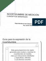Incertidumbre L. Gómez