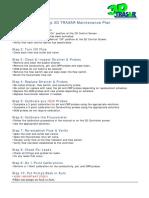 10 Step 3D TRASAR Maintenance Plan