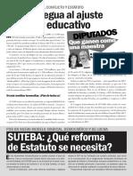 No darle tregua al ajuste salarial y educativo de Vidal y el PRO
