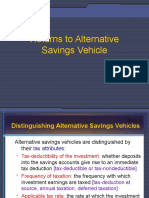 Returns to Alternative Savings Vehicles