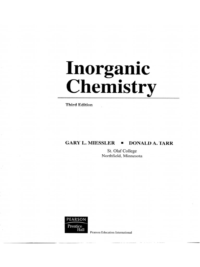 Inorganic chemistry gary l miessler donald a tarrpdf fandeluxe Images