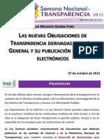 02 Presentacion 2015 Obligaciones Transparencia Final OGF