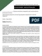 Análisis de Gases Disueltos Para Monitoreo y Diagnóstico de Transformadores