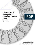 Control Valve Sizing Complex Fluids