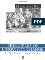 Principles of Linguistic Change_Fatores Internos