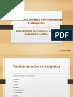 Expresiones Literarias de Pensamiento Prehispánico
