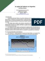 El Stock de Capital Del Gobierno en Argentina