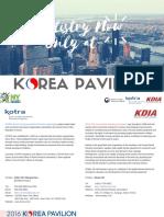 2016 KOREA PAVILION at GNYDM_Catalogue