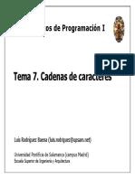 FPI07 Cadenas de Caracteres