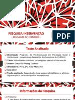 Pesquisa Intervenção - Tanikado (2010)