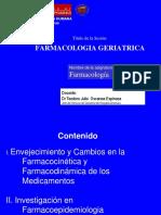 13.2 Farmacología Geriátrica