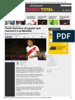 Paolo Guerrero_ El Jugador de La Selección Peruana Que Sí Merece Ir Al Mundial _ Selección _ Deporte Total _ El Comercio Peru