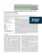 Evaluation of Reference Evapotranspirati