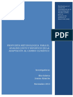Propuesta Metodológica Para El Análisis Costo y Beneficio de La Adaptación Al Cambio Climático