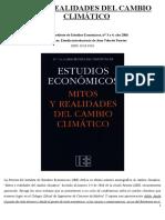 Mitos y realidades del cambio climatico