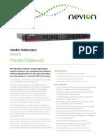 Nevion NX4600 Data Sheet R1635