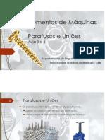 Aula 3 e 4 - Elementos de Máquinas - Características e Tensões