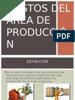 Costos Del Área de Producción