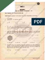 CAT Mock paper (MCT I)