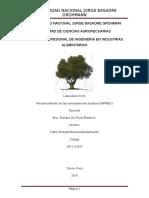 Informe de Olivos- Reconocimiento de Las Variedades Del INPREX