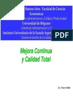 Plan de Mejora Del Centro Educativo, Avanzando Hacia La Calidad Total