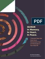 Quran Memorisation (Bilal Memon)