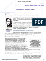 Looking Good- The Psychology and Biology of Beauty