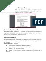 Parámetros de Programacion.