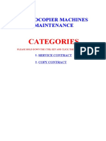 Photocopier Machines Sample Contract