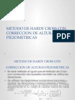 Metodo de Hardy Cross Con Correccion de Alturas