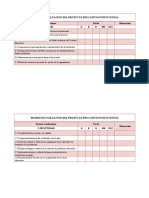 Matrices de Evaluacion