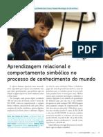 08-11-16ago - Aprendizagem Relacional e o Comportamento Simbolico OK