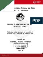 Rubio Correa Marcial Error Ignorancia