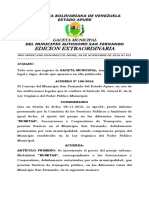 GACETA Nº 851-2016, Aumento Del Pasaje Busetas del municipio San Fernando.