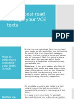 how to best read through your vce texts