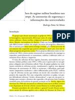 SÁ MOTTA. Os Olhos Do Regime Militar Brasileiro Nos