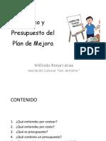 4 Costeo y Presupuesto Del Plan de Mejora Wilfredo Rimari