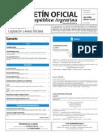 Boletín Oficial de la República Argentina, Número 33.510. 23 de noviembre de 2016