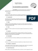 (Guía de Trabajo) Modos de Razonamiento Argumentativo