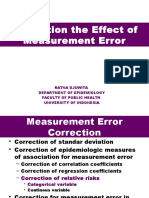 Correction Measurement Error