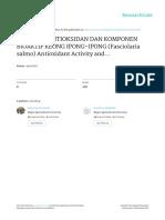 Aktifitas Antioksidan Komponen Bioaktif Keong Ipong