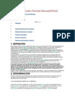 Derecho Comercial o Derecho Mercantil