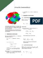 Derivación (matemática)
