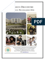 IIIT BTech Admission Brochure 2016