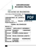 Alcoholes-Química Orgánica