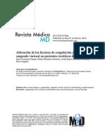 Alteración de Los Factores de Coagulación y Presencia de Sangrado Variceal en Pacientes Cirróticos Descompensados