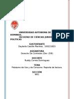 Contratos, Reporte de Lectura, Unidad 4. Daybelis Castillo