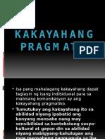 Kakayahang pragmatik