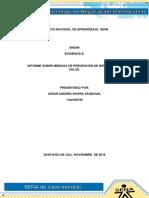 Evidencia 9 Informe Sobre Prevencion Riesgo Salud Sena Cesar