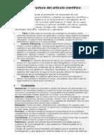 Forma y Estructura Del Artículo Científico